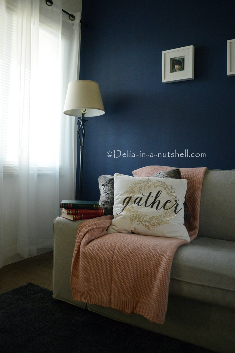 accent wall paint a wall navy blue